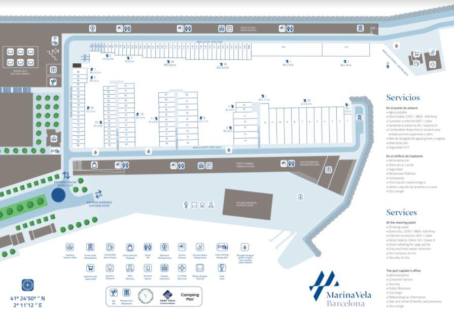 Mapa Marina Vela